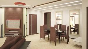Дизайн проект новой 6-комнатной квартиры в новостройке