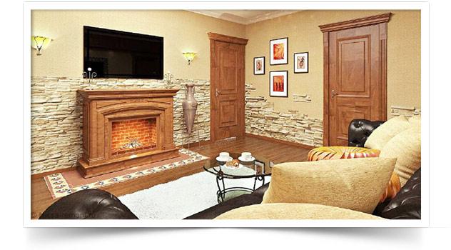 Квартира с камином