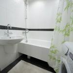 Ремонт ванной комнаты в трехкомнатной квартире
