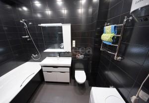 Дизайн ванной комнаты однокомнатной квартиры на Российской, 21