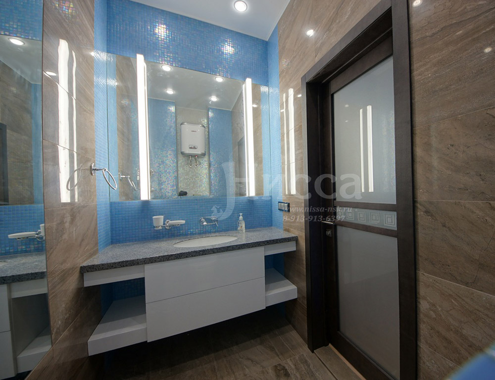 Отделка ванной комнаты трехкомнатной квартиры на Российской 21