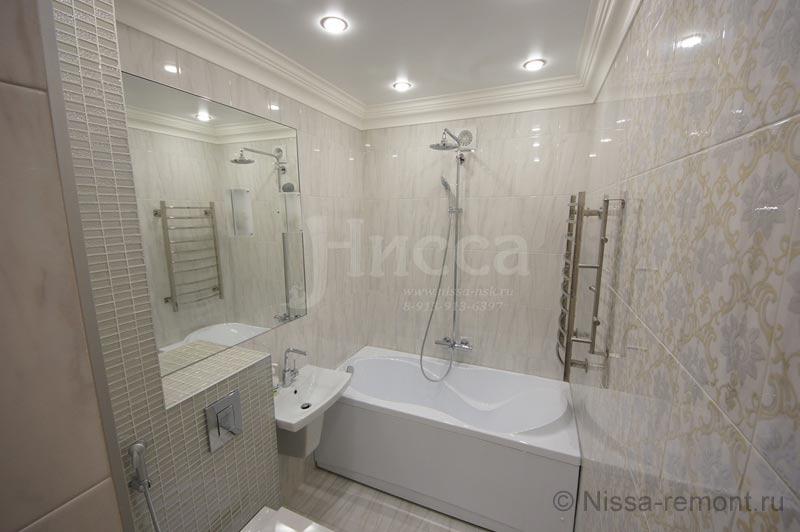 Ремонт ванной комнаты в новостройке на Балтийской