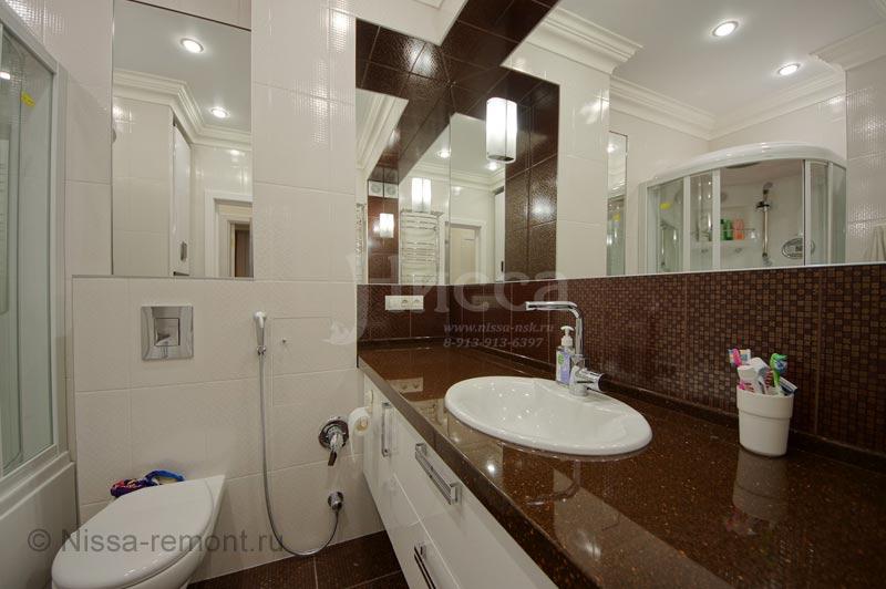 На фото: современный ремонт ванной комнаты