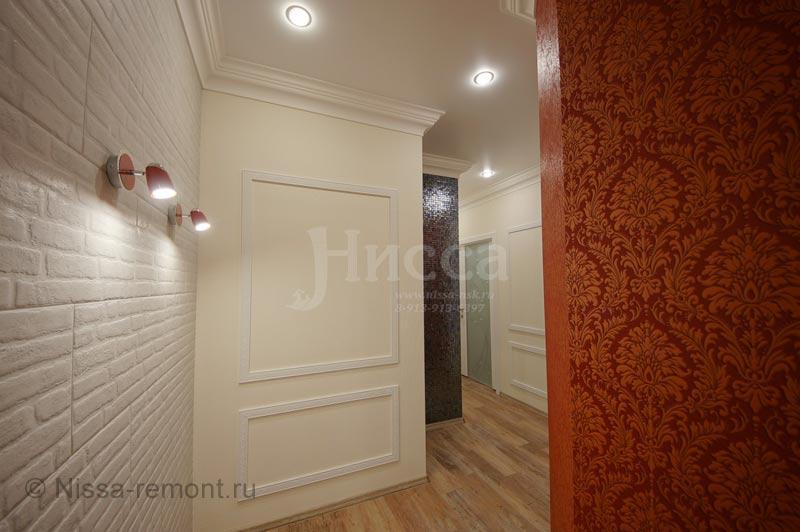 Отделка коридора в 6-ти комнатной квартире на Балтийской