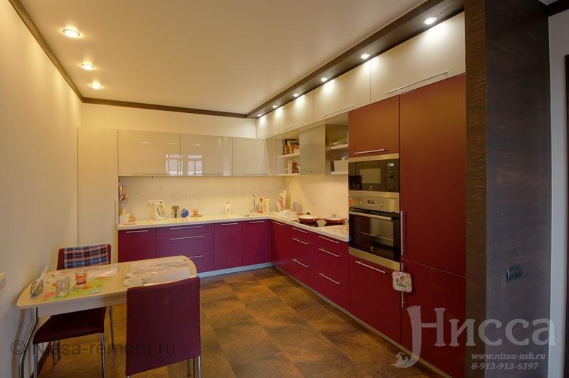 Ремонт кухни в 6-ти комнатной квартире по адресу Коптюга 15, Академгородок