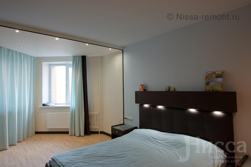 Ремонт спальни в 6-ти комнатной квартире. Академгородок