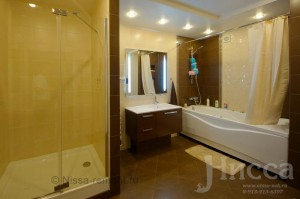 Ремонт и отделка ванной комнаты. 6-ти комнатная квартира по ул. Коптюга. Академгородок