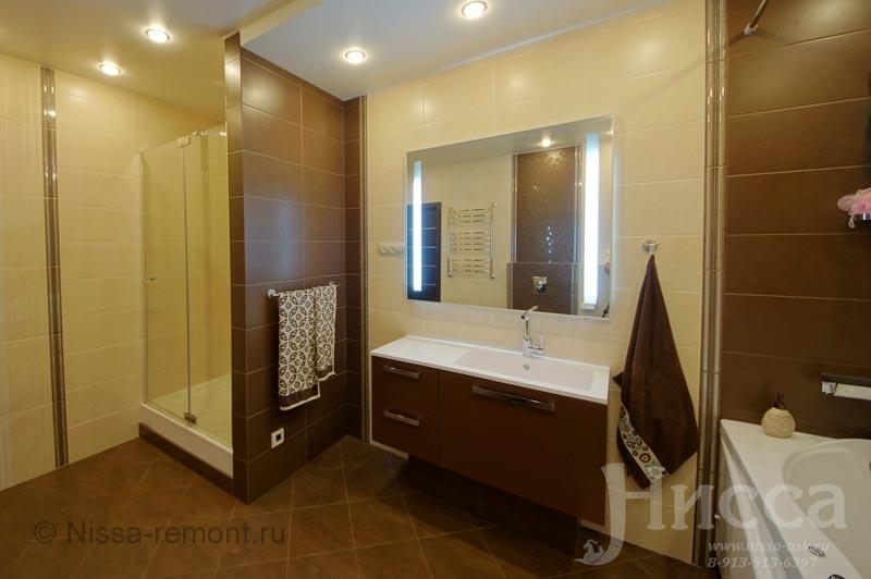 Ремонт ванной комнаты в 6-ти комнатной квартире. Коптюга 15
