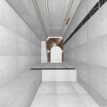 Простой и удобный санузел выполнен в светлых тонах для расширения пространства