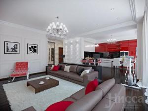 На фото дизайн гостиной