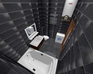 Дизайн-проект ванной комнаты однокомнатной квартиры
