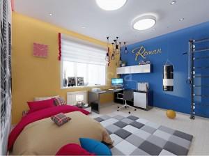Дизайн-проект детской комнаты 3-комнатной квартиры. Российская, 21