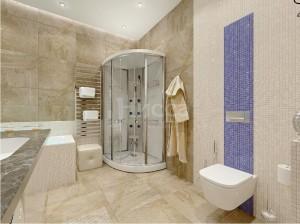 Дизайн ванной комнаты с душевой кабинкой