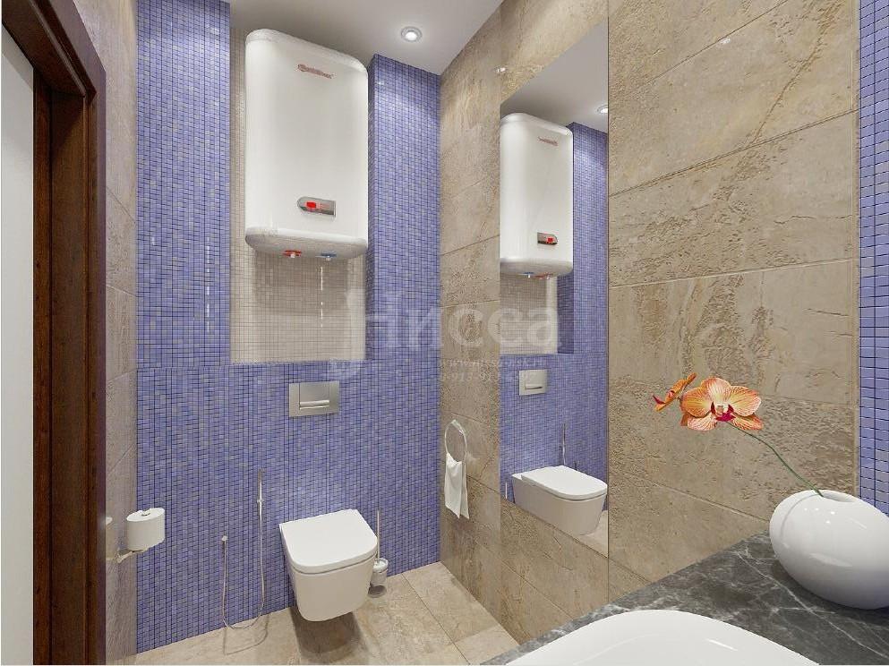 Дизайн ванной комнаты в лавандовых тонах