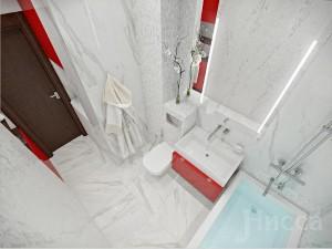 В дизайне ванной учтены все детали для удобства