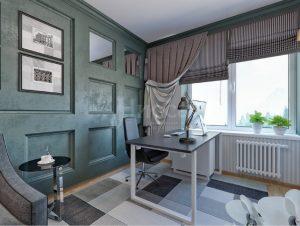 Дизайн-проект квартиры. Кабинет для плодотворной работы