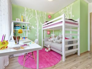 Дизайн интерьера. Уютная детская комната