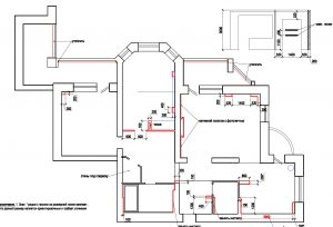 Дизайн-проект трехкомнатной квартиры на Коптюга. План перепланировки.