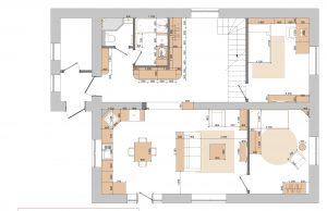 Дизайн-проект коттеджа. План расстановки мебели.