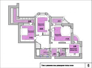 Дизайн-проект квартиры.Теплые полы пленочные и в матах