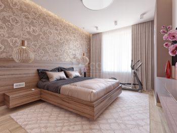 Дизайн квартиры в спокойных тонах.