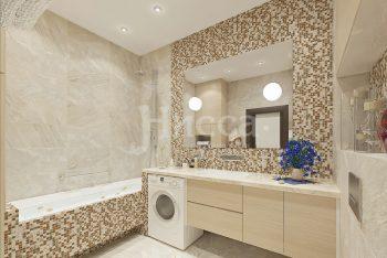 Использование мозаики в дизайне интерьера. Ванная.