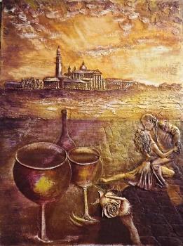 Декоративная штукатурка позволяет выполнять рельефные рисунки и фрески