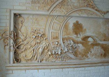 Декоративная штукатурка, рельефная картина