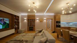Фото готового дизайнерского ремонта трехкомнатной квартиры на ул. Рассветной в Кольцово